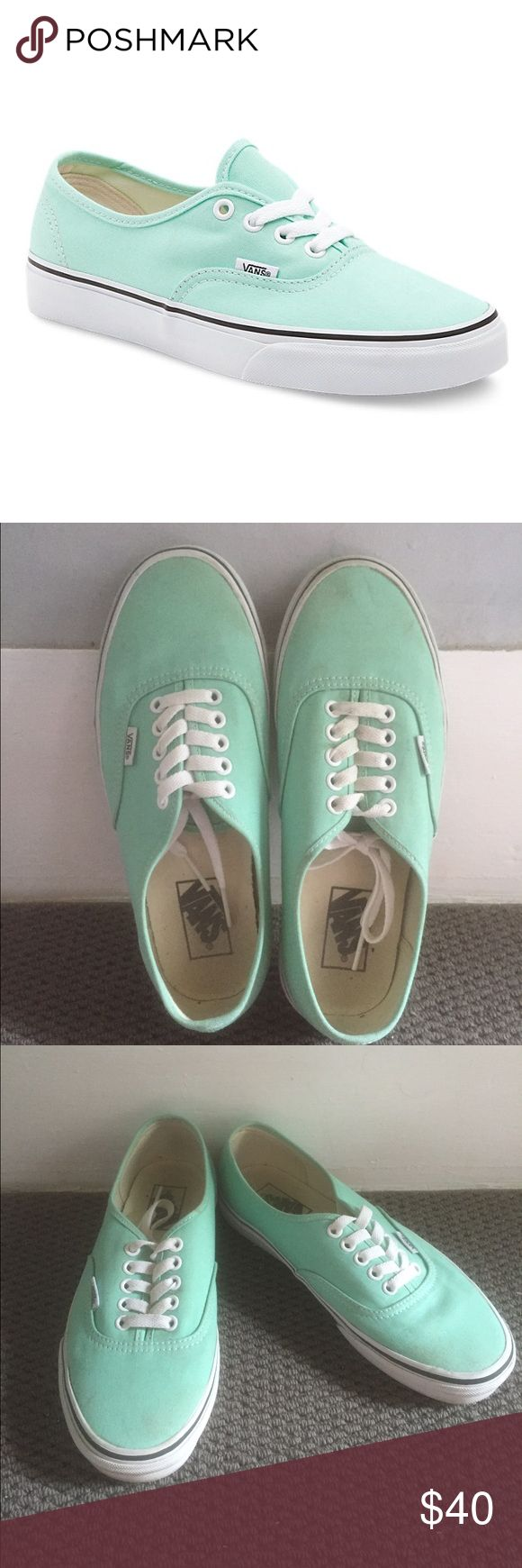Teal vans Teal vans with thick sole. Worn one time, the size was too big for me. Vans Shoes Sneakers