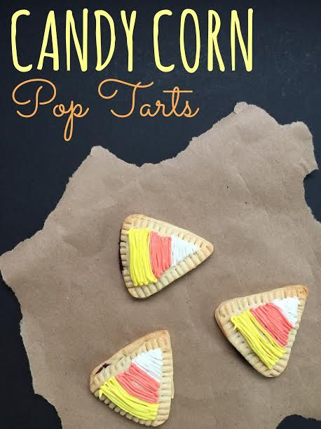 Make homemade Pop Tarts to customize the Pop Tart flavors and skip the processed ingredients. These candy corn homemade pop tarts are perfect for fall.