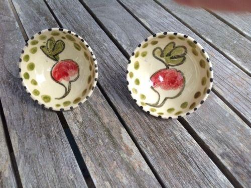 Tiny radish dishes . AliAll pottery