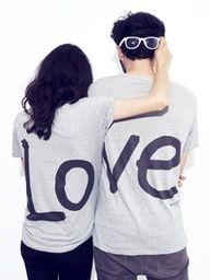 Cute. This makes me think of those couples that make matching t-shirts for their Disneyland honeymoon. Thisd be cute for engagements though. :D