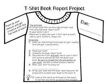 book report in a bag rubric paper Paper bag reading report paper bag rubric student name: book or student's favorite scene from the story back of bag has.