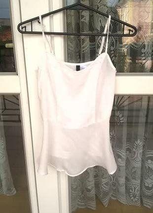 Kup mój przedmiot na #vintedpl http://www.vinted.pl/damska-odziez/koszulki-na-ramiaczkach-koszulki-bez-rekawow/15532126-baskinka-biala-xxs-marki-hm-idealna-na-swieta