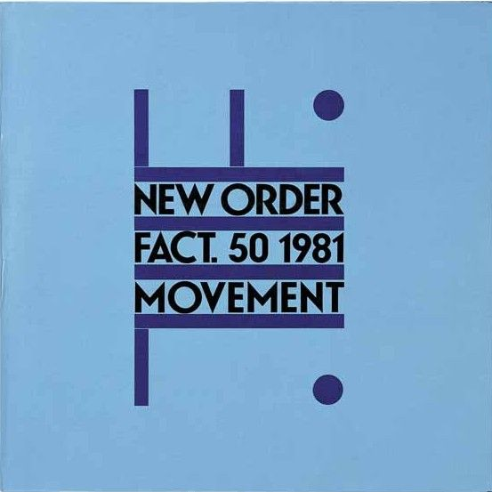 """#NewOrder debut album """"Movement"""" (FAC 50).  cover design by Peter Saville. Released in 1981 on #FactoryRecords."""