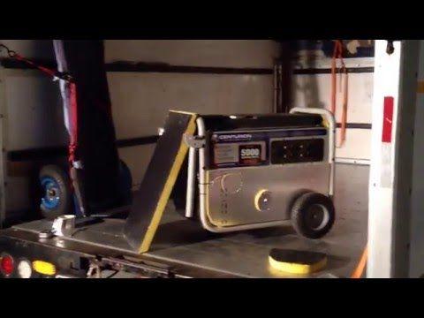 How to cut generator noise in half. 5000 watt Generac. - YouTube