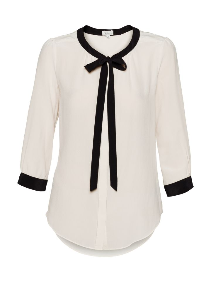 T. Babaton monochrome tie silk blouse...perfect for work!