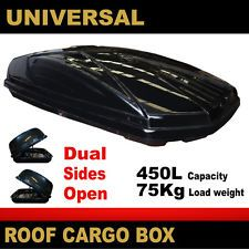 Universal 450L 75Kg DUAL SIDES OPEN Car Roof Rack Luggage Box Pod Carrier