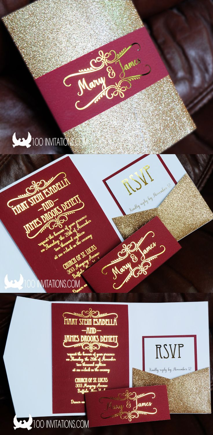 13 best Glitter Wedding Invitations images on Pinterest | Affordable ...
