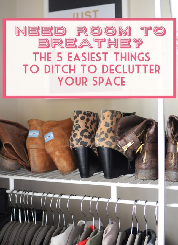 Feeling overwhelmed with clutter?  Ditch these 5 things in 15 minutes or less, they're the easiest things in your home to part with for instant decluttering at home.