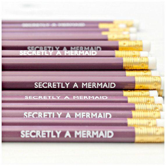 Secrètement un crayon de la sirène par LucyMadeMe sur Etsy