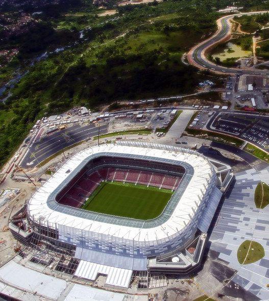 Arena Pernambuco - Recife - Brazil  Durante processo de finalização das obras.