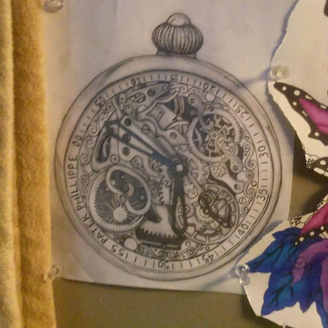 "7 Likes, 1 Comments - Emma Erickson (@uncleemma) on Instagram: ""#art #drawing #steampunk #stopwatch #clock#steampunkart #tattoo #watch"""