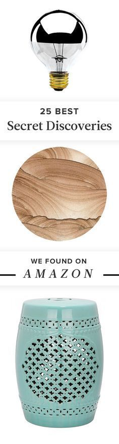 25 Secret Discoveries We Found on Amazon: The next great design site has been right under your nose the whole time. You've come to love http://Amazon.com as your go-to for cheap books and bulk toilet paper, but did you know the site is also home to millions of top-notch decor pieces at affordable prices?