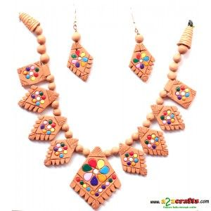 Terracotta Jewellery - Terracotta Jewelry - Rs 345 - Hand Made Crafts - Buy & Sell Indian Handmade Crafts and Handmade Jewelry and Gifts