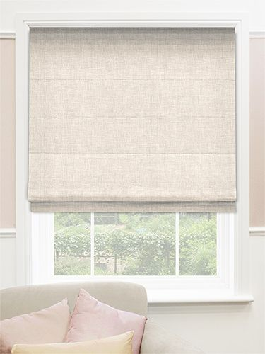 Linen Natural Roman Blind. From £23.45
