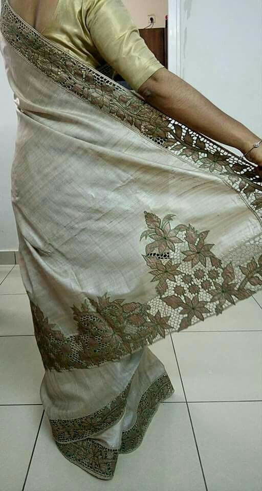 That is the 'pallu' of the sari.
