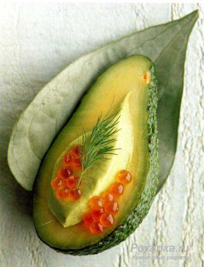 Мусс из авокадо с красной икрой - рецепт