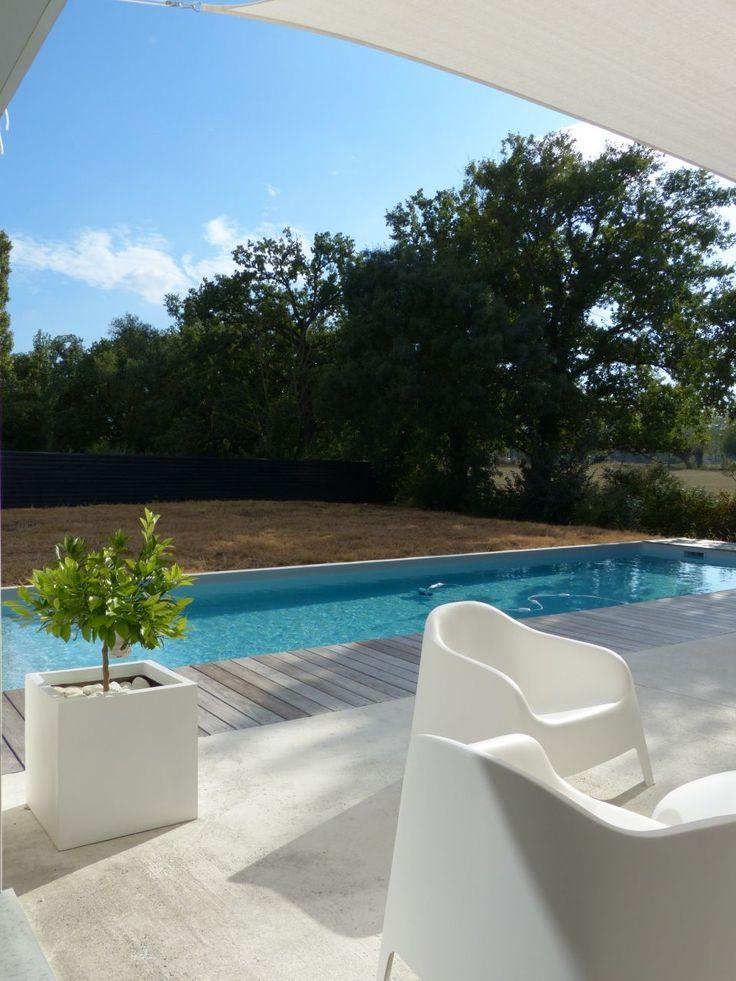 Les 40 meilleures images propos de piscine sur pinterest for Piscine miroir polyester