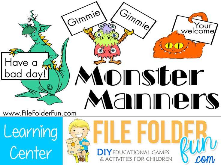 Good Manners Printables for Kids - iMom