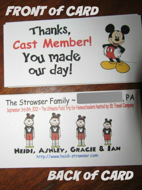 DIY Thank-you notes for Disney Cast Members!  You'll make THEIR day magical!