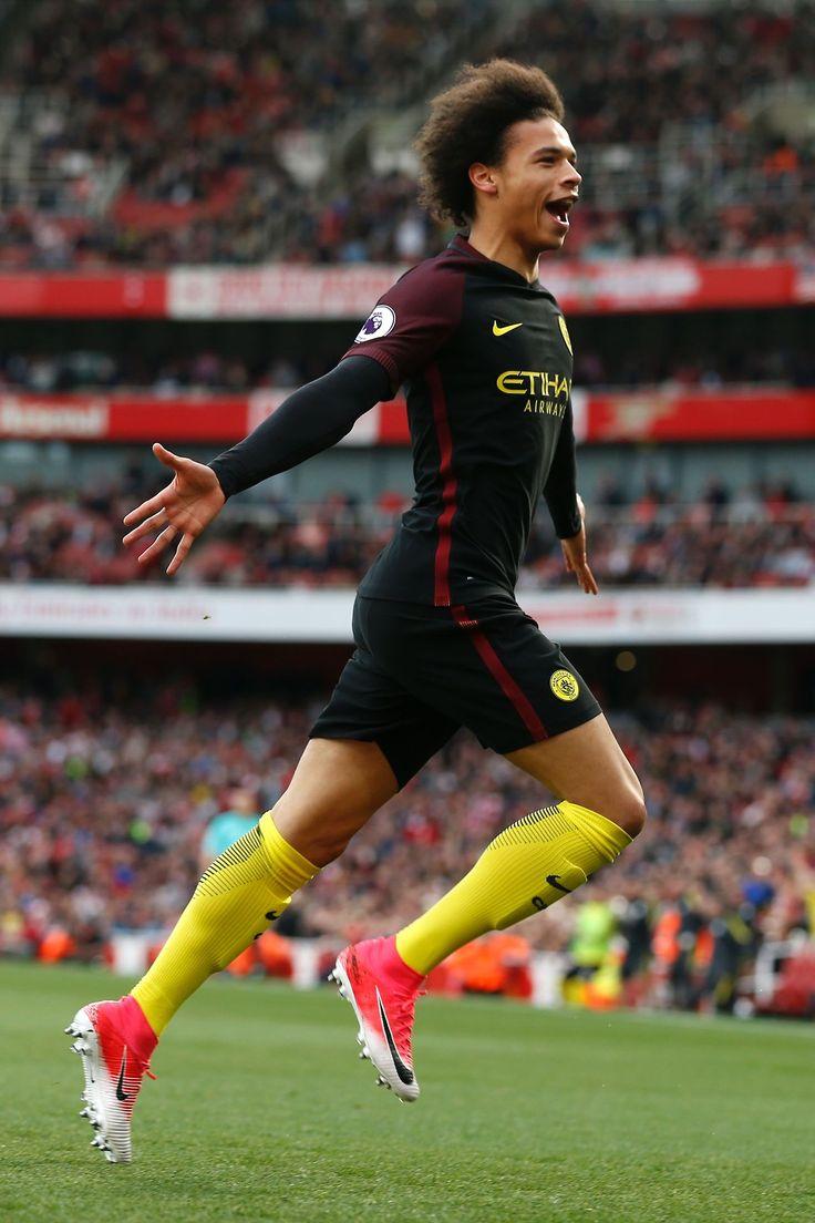 Leroy Sane a favor del Manchester City, hoy en el empate a 2 ante los gunners.