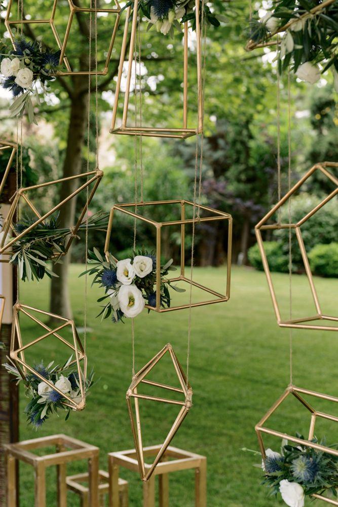 Geometric installation #wedding #decor #weddingtrends