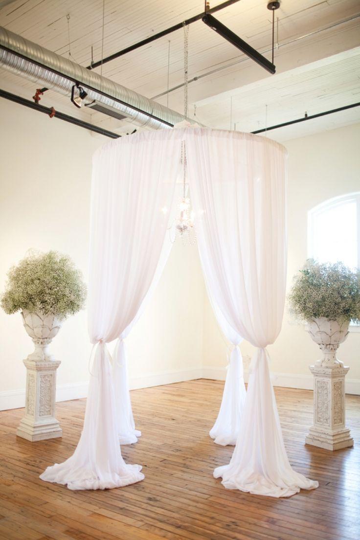 White draping altar