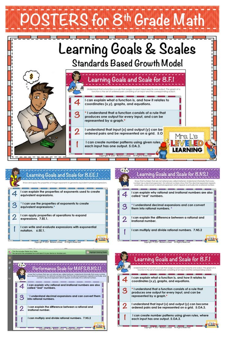 I Use These 8th Grade Math Performance Scales As A Quick Pre Assessment When Introducing A Topi 7th Grade Math 8th Grade Math Instructional Strategies Teaching [ 1102 x 735 Pixel ]