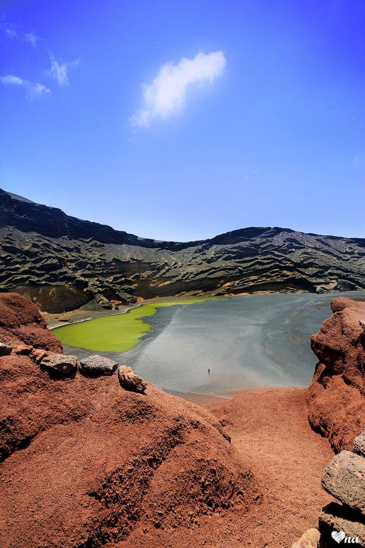 Charco de los Clicos, El Golfo, Lanzarote #travel #onawielepiej