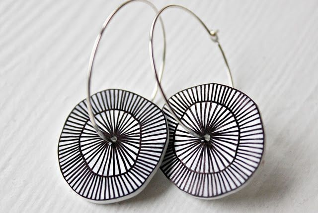 I bet I could make these with a sharpie marker, a hole punch, shrinkydinks and a pair of cheap hoops!