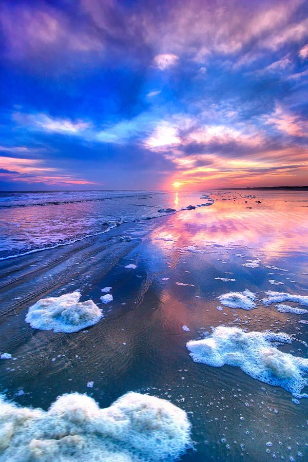 ~~Sunset At Sunset Beach ~ pinks and blues, Outer Banks, North Carolina by Dan Carmichael~~