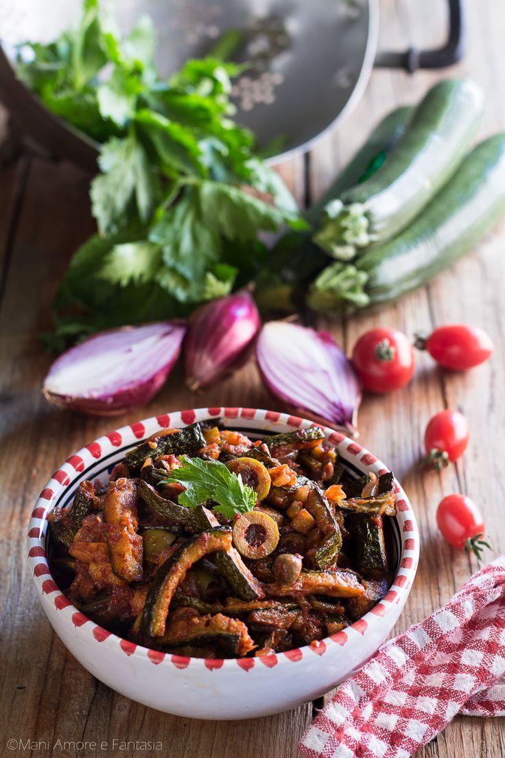 caponata di zucchine alla siciliana