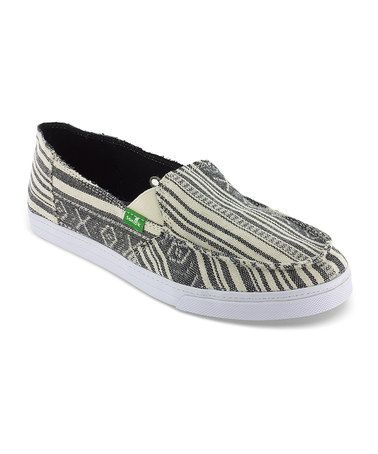Take a look at this Black & Cream Cabrio Poncho Slip-On Shoe - Women by Sanuk Women & Men on @zulily today!