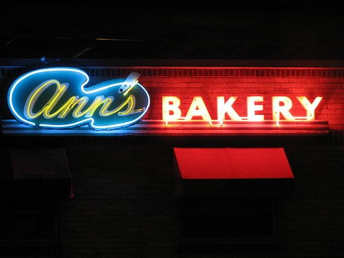 Ann's Bakery neon sign - Tulsa by Lost Tulsa, via Flickr