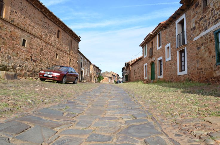 Narrow, quiet streets, Camino de Santiago Cycling