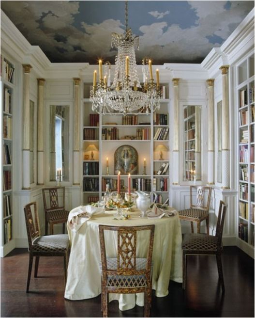 Another Fabulous Dining Library Space This One Is A Nicky Haslam Design Jan Saunders