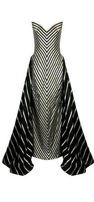 Bob Mackie Striped Siren Gown