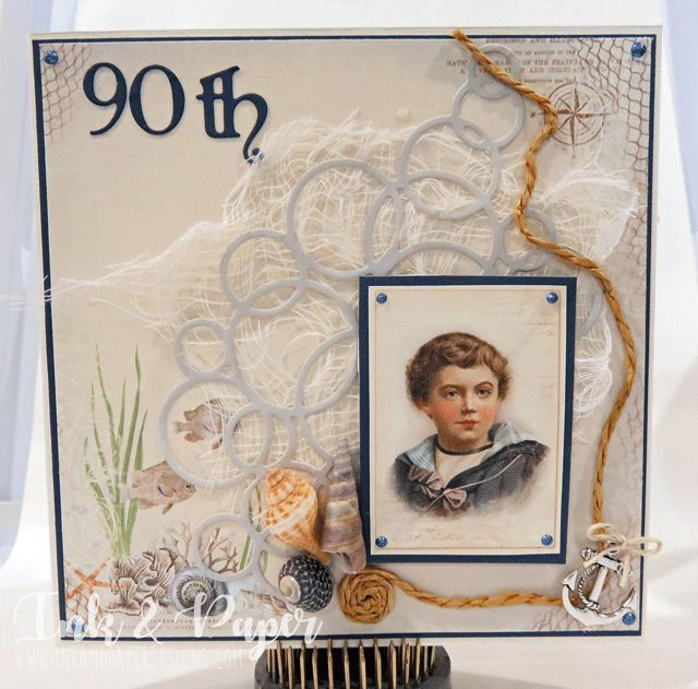 90th Birthday Card! Pion Papers