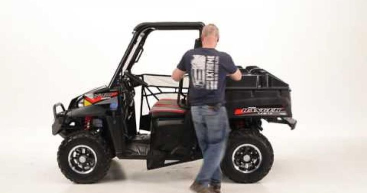 Extreme Metal Products Mid-Size Polaris Ranger Windshield, Ranger Top, and othe accessories.