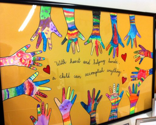 With heart and helping hands, a child can accomplish anything.