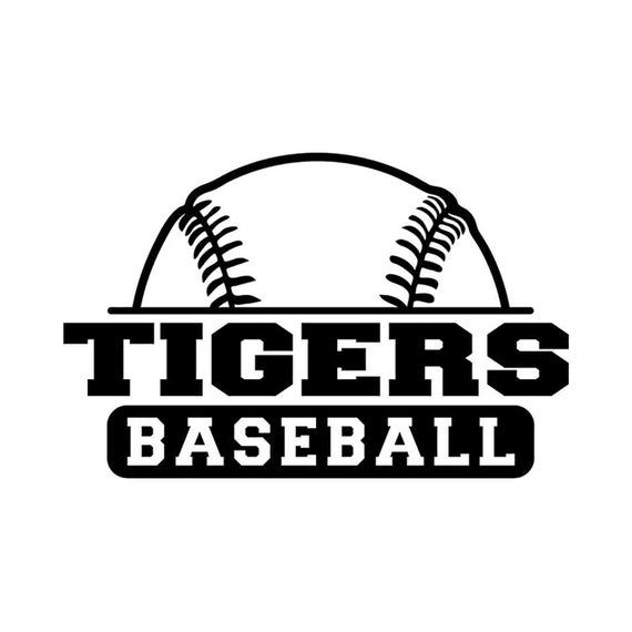 Tigers Baseball INSTANT DOWNLOAD 1 vector .eps, .dxf, .svg, & .png Vinyl Cutter Ready, T-Shirt, Tige