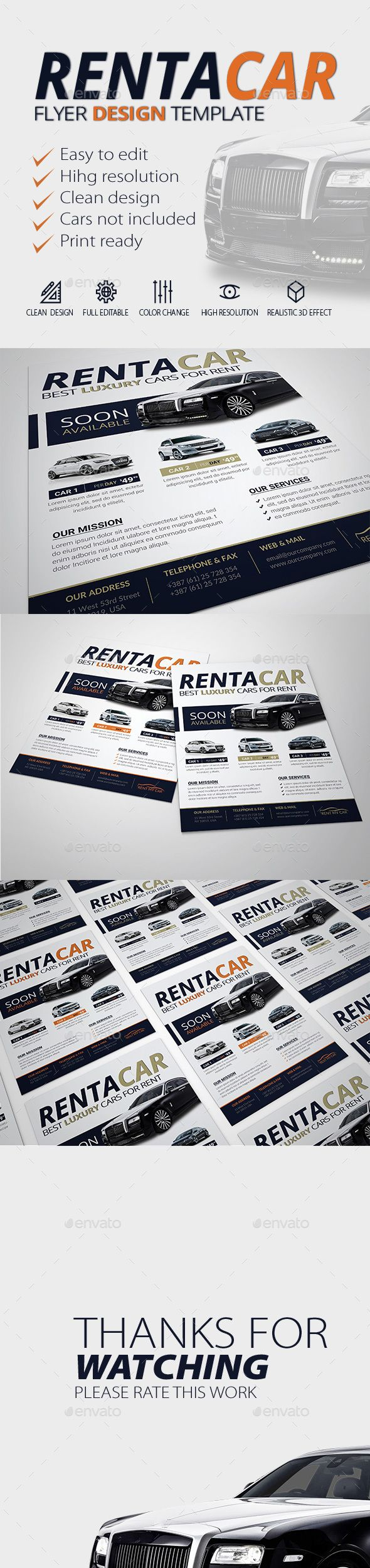 for rent flyer template