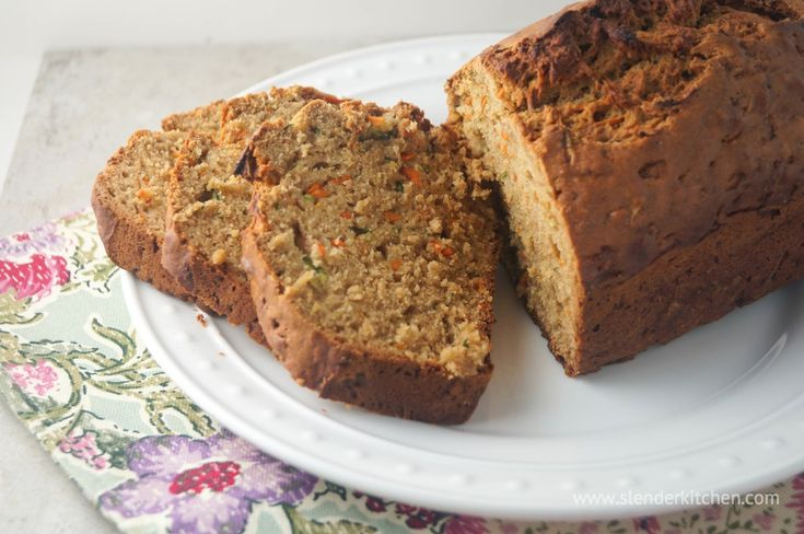 Carrot and Zucchini Bread | Slender Kitchen