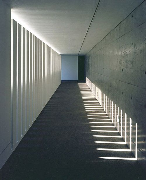 Shadow patterns at Creo Hall, designed by architect Akira Sakomoto Casa. Photo…
