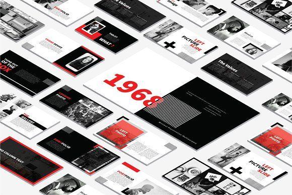 Black Modern Layout Powerpoint by Dirtytemp Studio on @creativemarket