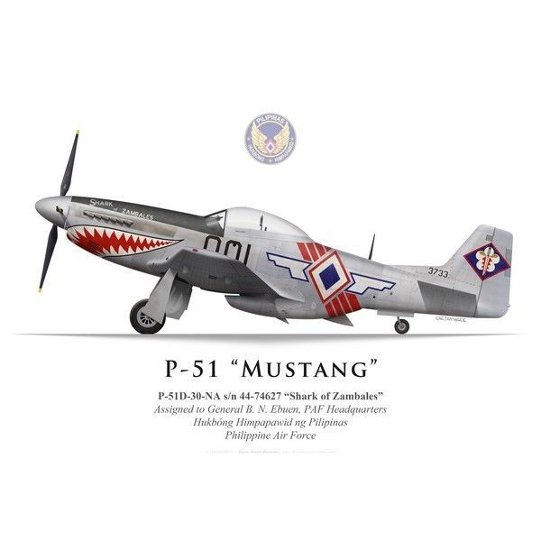 "P-51D Mustang ""Shark of Zambales"", Headquarters, Philippine Air Force - Bravo Bravo Aviation #aviationcraft"