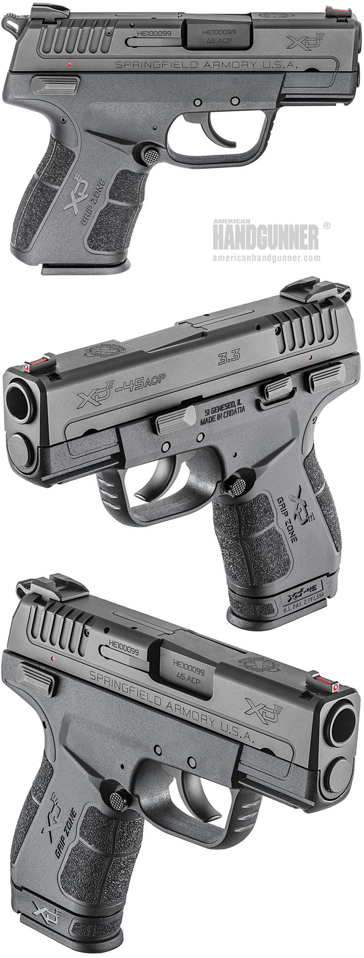 EXCLUSIVE: Springfield Armory's Bigger Hammer — The XD-E .45 ACP CCW Pistol | By Michael O. Humphries | The new Springfield Armory XD-E in .45 ACP gives fans of the DA/SA trigger system a pistol that packs a very big punch in a small package. | © American Handgunner 2017