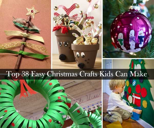 Top 38 Simple And Low Cost DIY Christmas Crafts Children Can Make