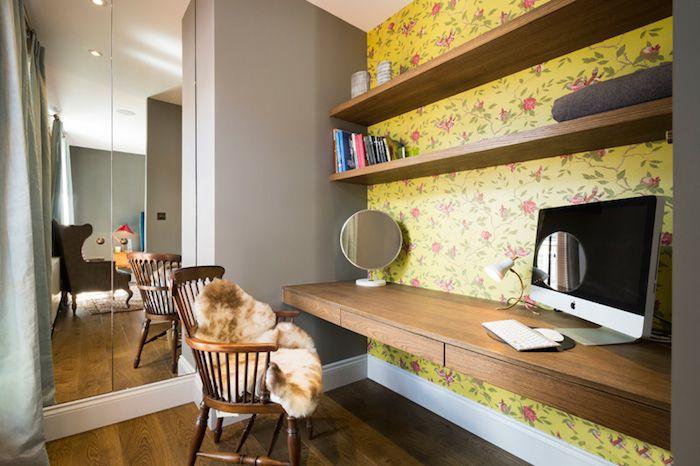Стена цветная контрастного цвета - очень прикольно. И вообще в этой комнате уютно смотрятся темные стены и белый потолок. Для спальни неплохо. Только не серые ))