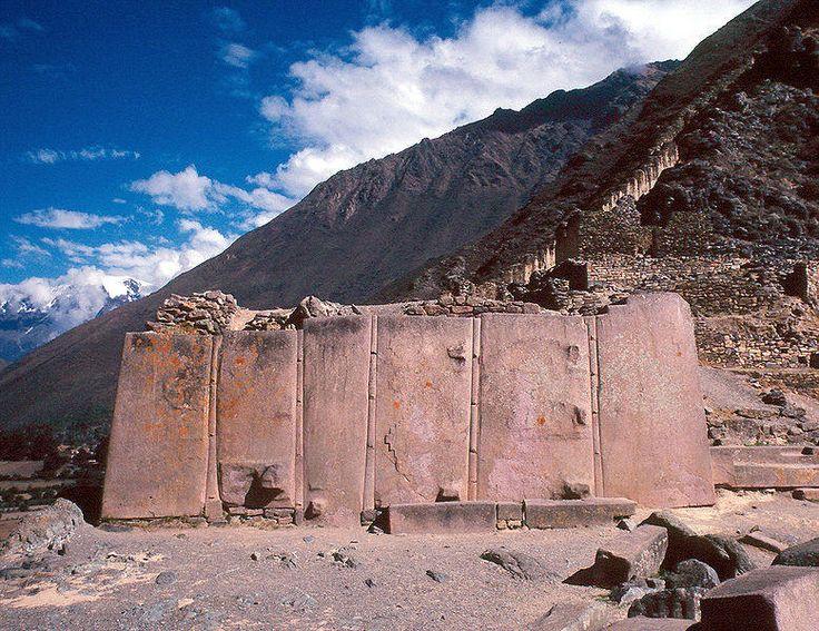 Mysterious Pre-Inca megalithic stonework at Ollantaytambo, Peru