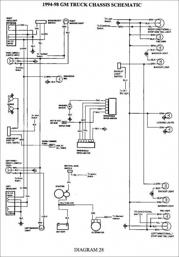 12 chevy truck trailer wiring harness diagram  truck